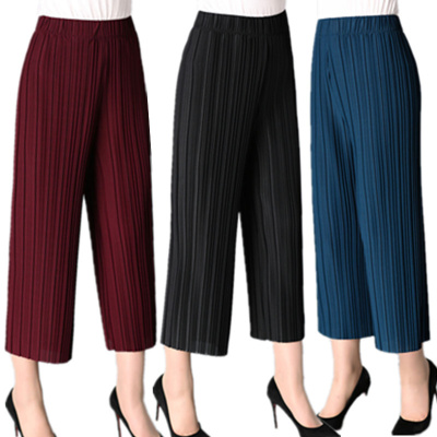 In summer middle-aged and old women's trousers are loose and tight, high-waist skirt pants women's clothes