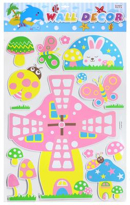 EVA3D three-dimensional children's cartoon sticker wall paste, indoor decoration paste