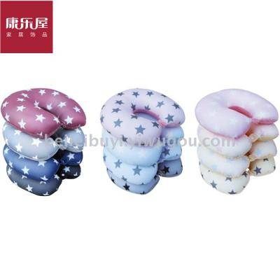Leisure house home fabric novelty star printing foam particles U pillow travel U neck pillow daily provisions