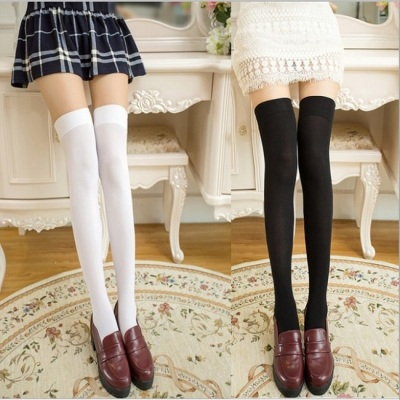 Spring and autumn style silk stockings velvet high school students princess stockings dance socks knee-high tights