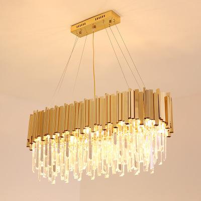 Light Luxury Post Modern Crystal Chandelier Model Room S Gold Living