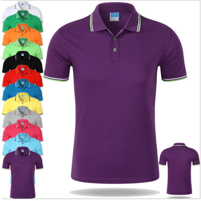 Men's wear spring and summer lapel short sleeve t - shirt custom group class clothing polo cultural advertising shirt
