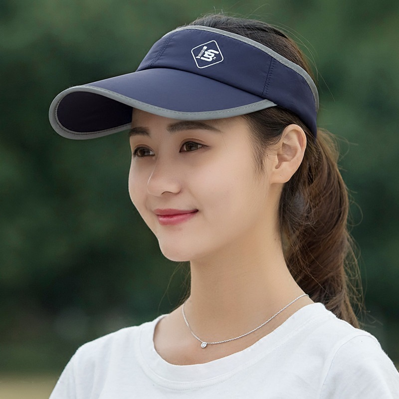 1d8ec2290817ef Summer ladies empty top hat Korean version of outdoor sports fashion duck  tongue sun hat large