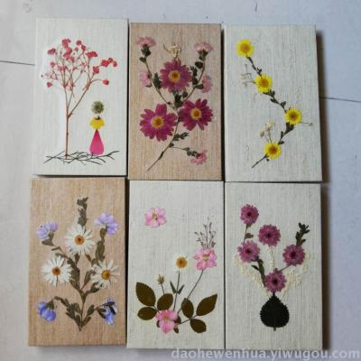 Hand-dried flower note book retro true flower creative DIY diary stationery girl flower paper hand book