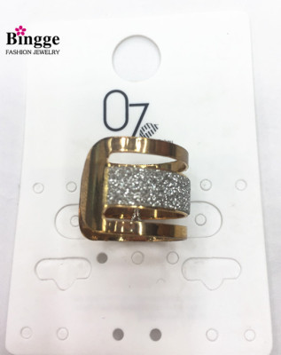 European and American fashion jewelry open-label ring
