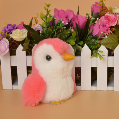 The New boutique creative fashion Korean rex rabbit fur penguin small pendant ladies affordable express hanging ornaments
