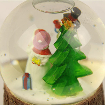Supply Christmas crystal ball snowman 3 yeti manufacturer export