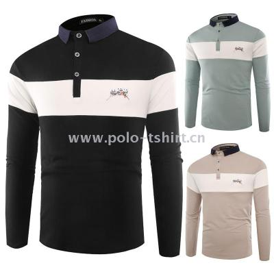 X031 Cross-Border Autumn And Winter Men'S Long-Sleeved Polo Shirt Bottoming Shirt