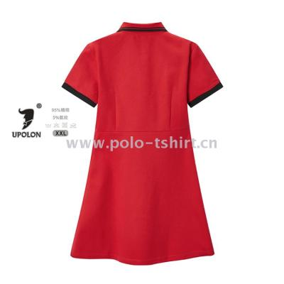 Summer New Korean Student Long Loose Polo Shirt Short-Sleeved T-Shirt Travel Skirt