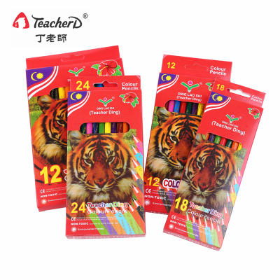 Regular rough color pencil, painted lead pencil for children and adults