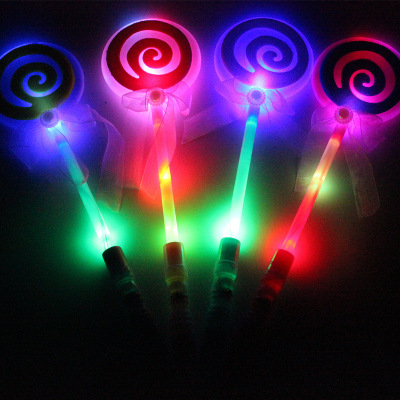 Children light toys colorful flash magic wand wholesale led lollipops lollipops night market stalls selling hot