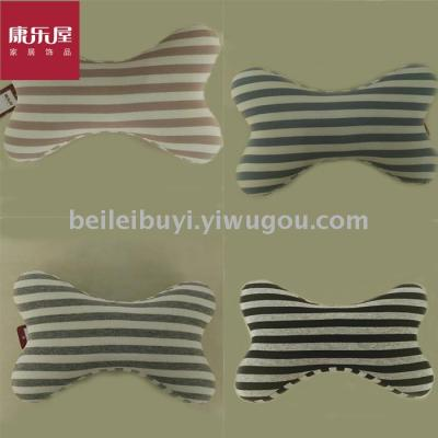 Recreational house household cloth art novelty stripe bone pillow fresh bone pillow car bone pillow daily provisions
