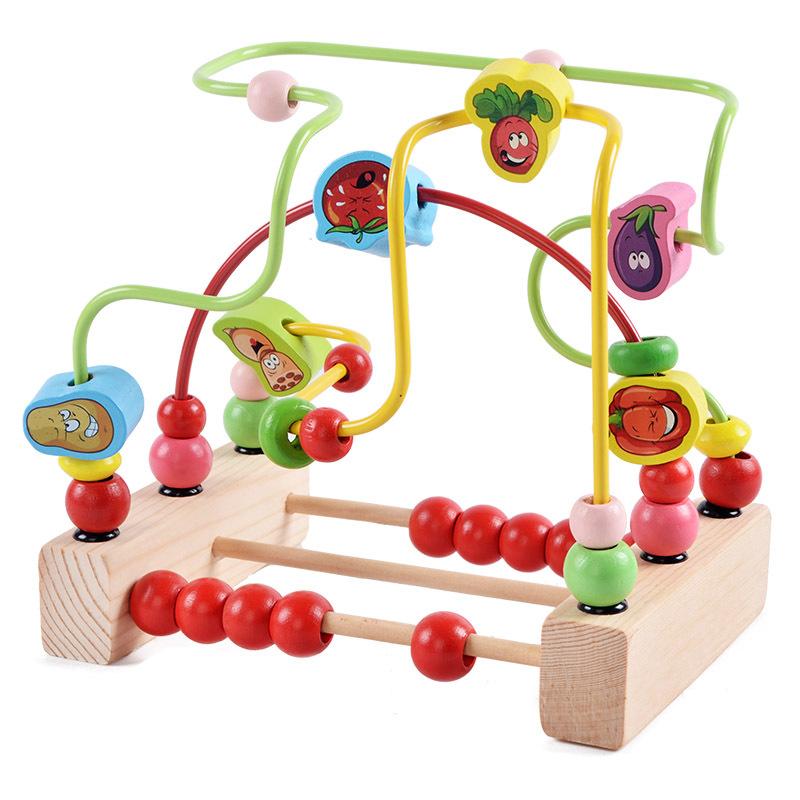 Supply Cartoon pattern wooden hands around beads children ...