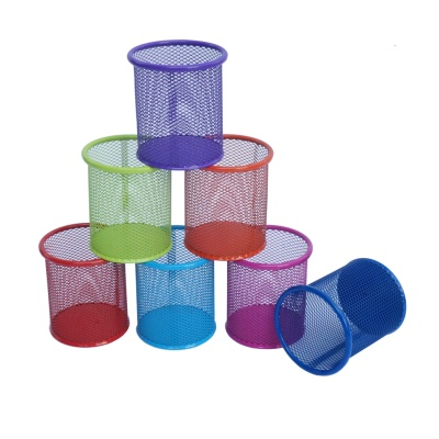 Mesh circular pen container fashionable color multi-functional storage pen container pen cylinder pen barrel color