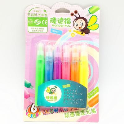 6PCS 10ML PLASTIC PACKING GLOW PEN