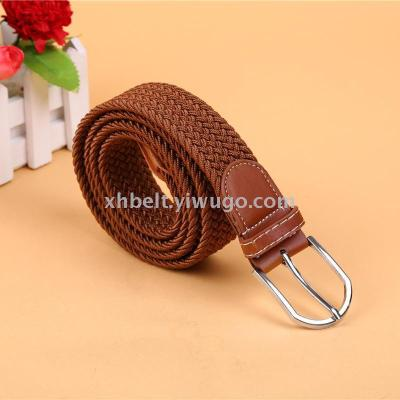 Unisex Candy colored sports Canvas belt Double ring buckle Extended BRaid plus size belt belt