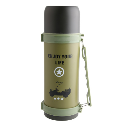 Outdoor mountaineering kettles 1.2l extra-large capacity travel kettles customized gift thermos cup camouflage VAT