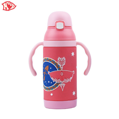 KD. The new type 304 stainless steel, The children 's vacuum cup constellation vacuum cup children' s handle vacuum cup