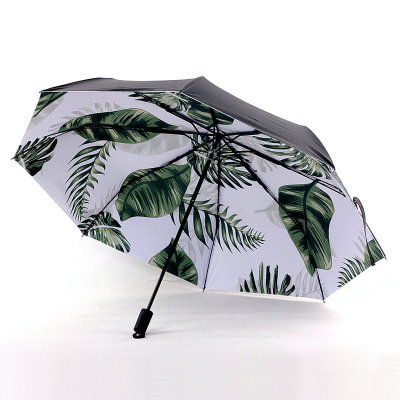 8 bone 3-fold sunny umbrellas ins small refreshing and lovely sunshade