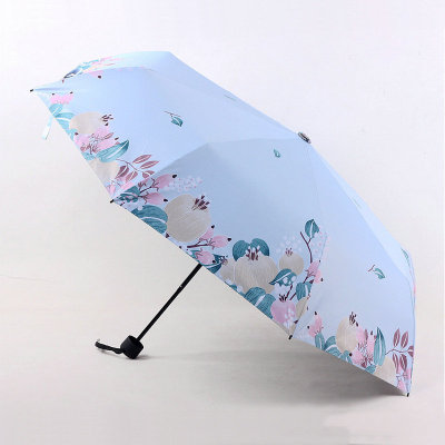Rain umbrella short umbrella  sun UV protection folding umbrella