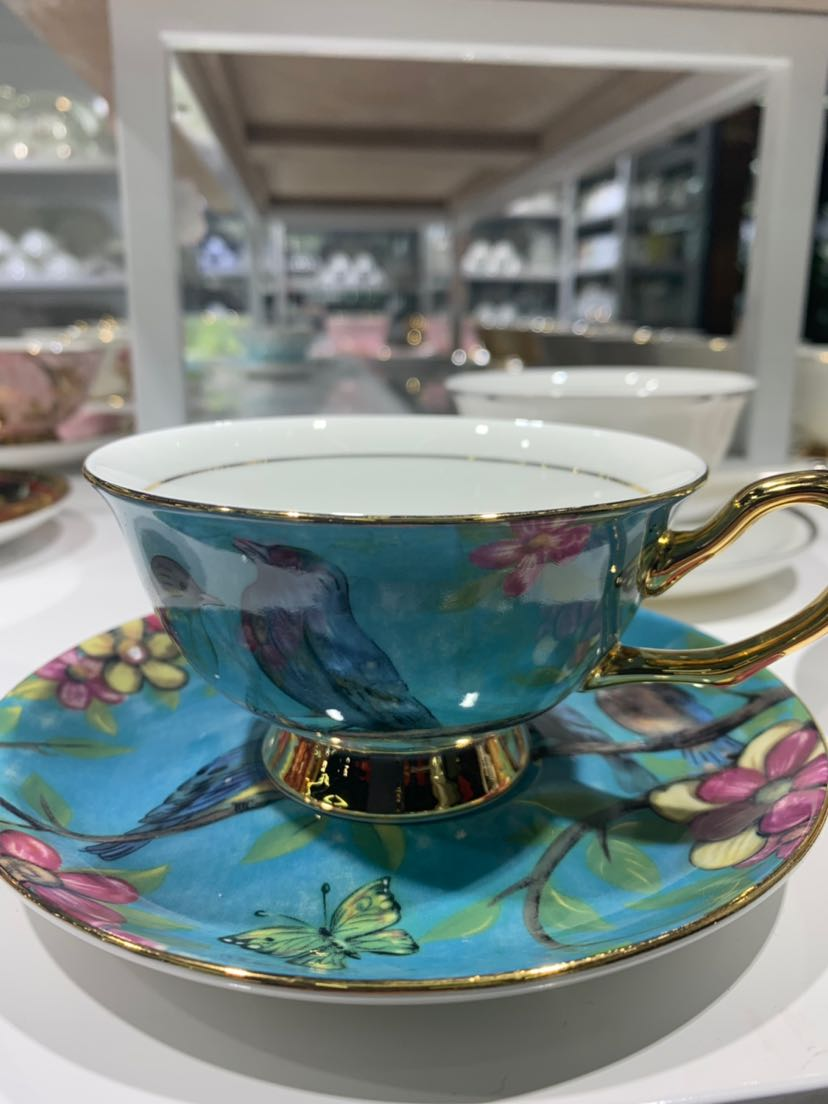 Supply High bone China coffee cup and saucer ceramic hotel supplies-