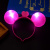 Glowing Mickey Mouse ear band glitter plastic hairpin concert props night market floor stalls children's toys