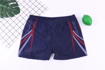 Super spring digital print men 's swimming trunks flat corner swimming trunks suit swimming professional large - size swimming trunks