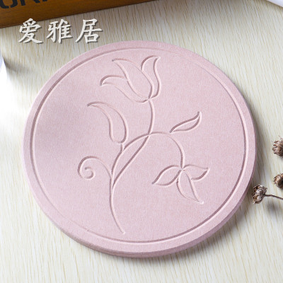 Diatomaceous earth water absorbent teapot pad natural Diatomaceous clay teapot pad pot pad pot pad household quick dry water absorbent