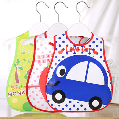 Baby bib Baby 3 d environmentally friendly EVA rice pocket children cartoon bib waterproof saliva towel wholesale