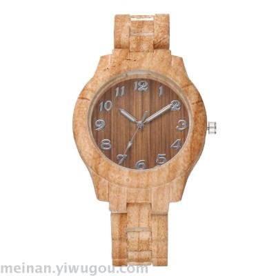 New imitation wood coconut shell creative fashion digital surface watch