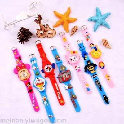 New cartoon cute series of children creative watch design complete
