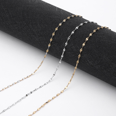 Manufacturers direct creative fashion pure silver simple necklace Chesapeake silver ornaments wholesale gold and silver chain chain