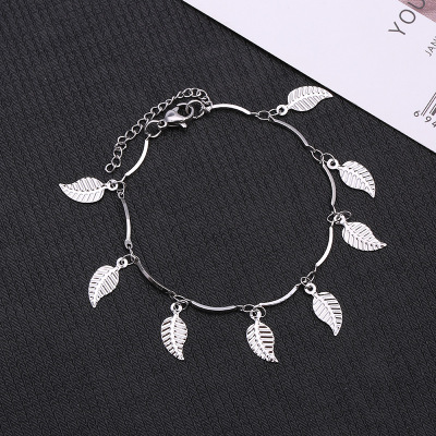 Strand and concise trend girl act the role ofing ACTS the role of article manual manufacturer of single leaf anklet wholesale foreign trade woman's type bracelet