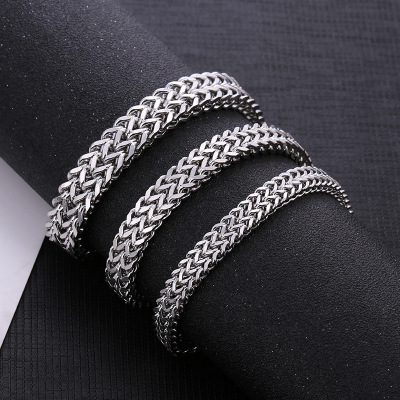 European and American cross - border jewelry wholesale move square fish scale men titanium steel bracelet holiday gifts tourist souvenirs