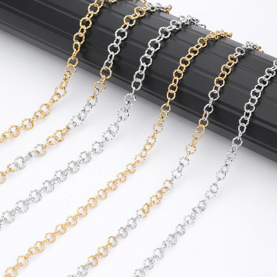 Europe and the United States foreign trade picking necklace creative bold collar chain wholesale stainless steel silver chain manufacturers spot
