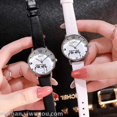 Personality trend lady cat student fashion belt watch