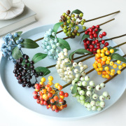 Spot supply European simulation flower small fruit bunches branches living room decoration Christmas decoration accessories simulation berries
