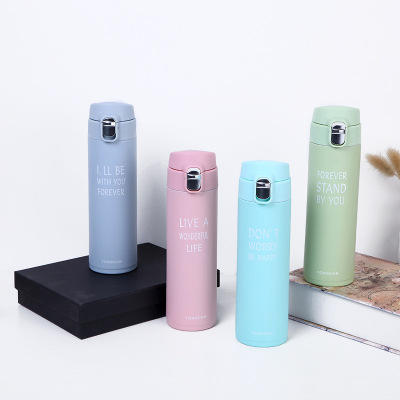 Yuxuan Stainless steel thermos cup with bouncing cover Simple leisure water cup portable sports cup wholesale
