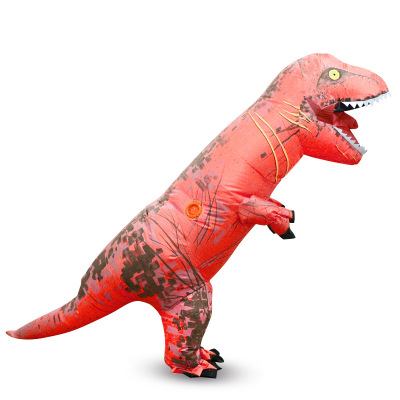 Crazy mentions tyrannosaurus rex inflatable costume performance clothes douyin with a children's parent-child clothing medium