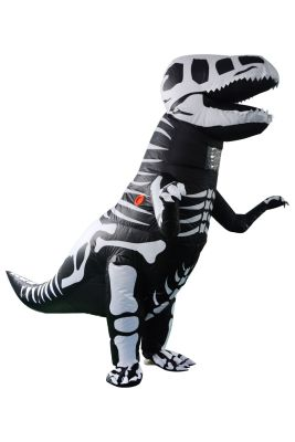 【 factory direct sale 】 Halloween new zombie ribs tyrannosaurus rex inflatable costume dance party cosplay