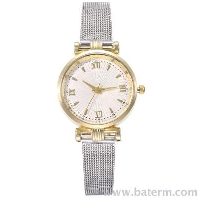 Fashionable small Roman numeral fine mesh strap adjustable watch strap ladies watch students watch