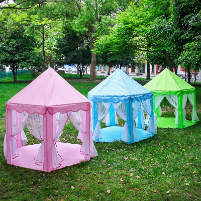 [factory] spot wholesale thickened children's tent game house Korean hexagonal princess tent indoor game house