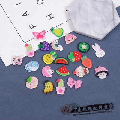 Hand-made diy hair accessories materials children's resin patch bow hair accessories clip accessories