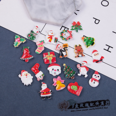 Santa Claus snow cream jam phone shell diy handmade resin accessories stick drill material package