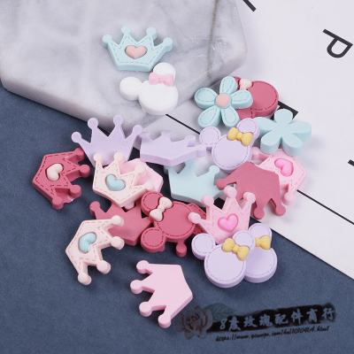 Korean version of children's hair accessories diy material package pu mickey rabbit Kitty handmade hairpin accessories