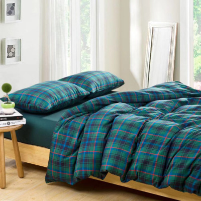 Cotton flannel bedding set four - piece bedding set