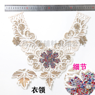 Wholesale hot drill collar flower clothing accessories