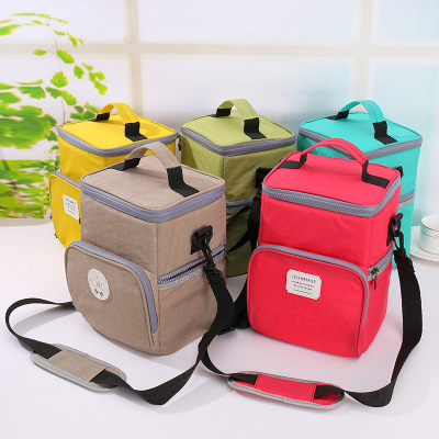 The New 2019 picnic waterproof bento bag with lanyard lunch box bag in thick aluminum foil ice bag double layer with rice insulated bag