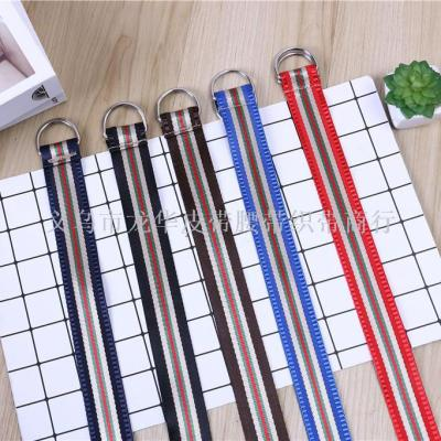 Fashion multi-color stripe belt webber direct sale