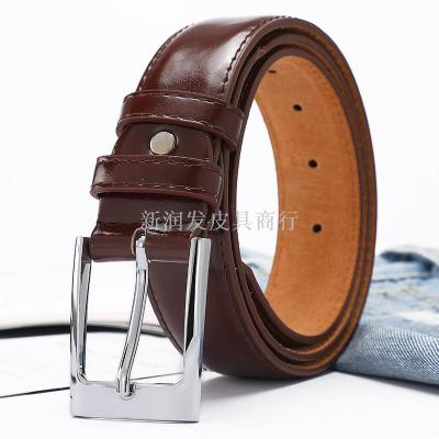 Patent leather ladies belt jeans versatile fashion pin buckle, belt female decorative simple Korean version of black belt wholesale